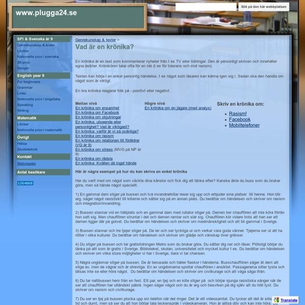 Vad är en krönika? - www.plugga24.se