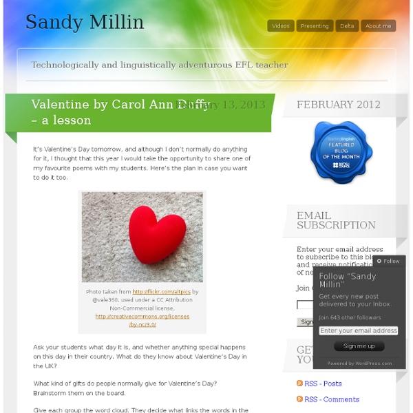 Valentine by Carol Ann Duffy – a lesson