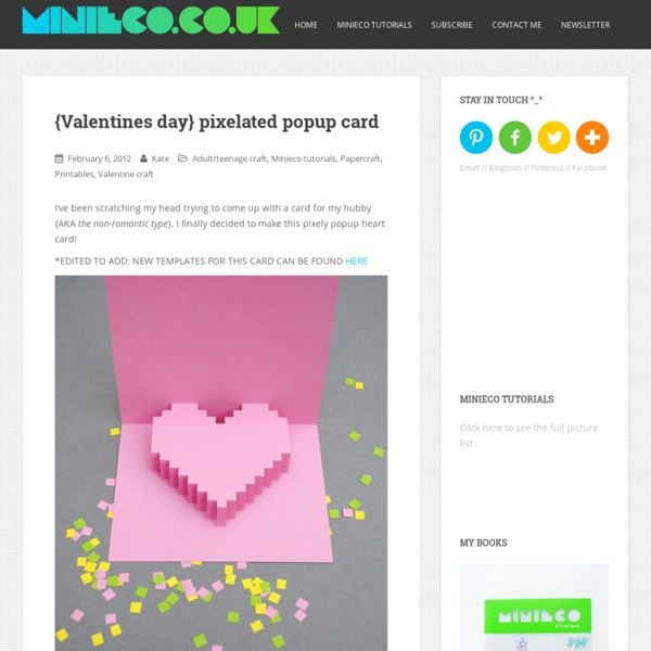 Valentines Day: Easy Pixelated Popup Card