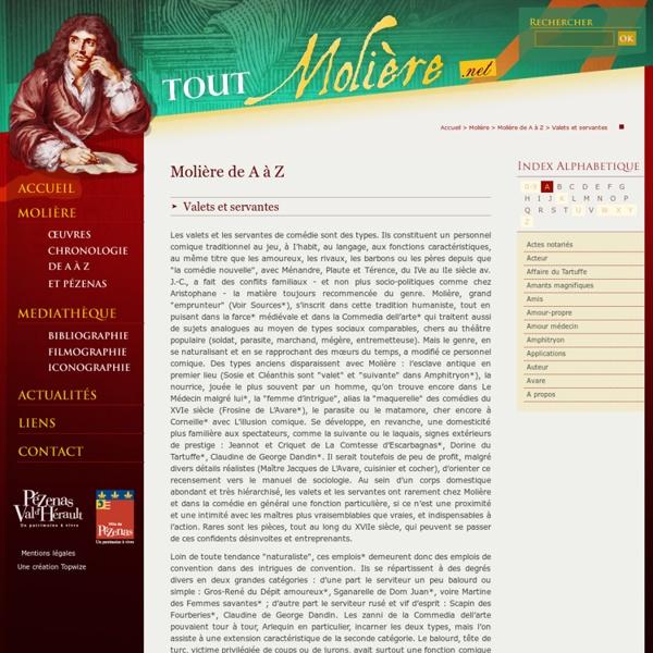 Molière de A à Z - Valets et servantes