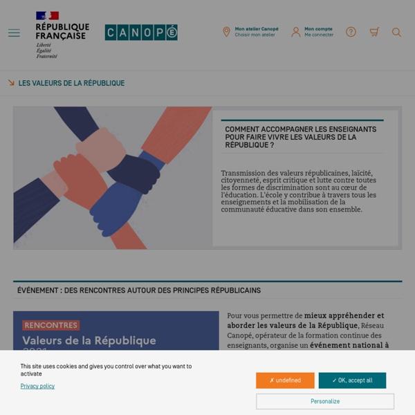 Les valeurs de la République - Ressources en ligne du réseau Canopé