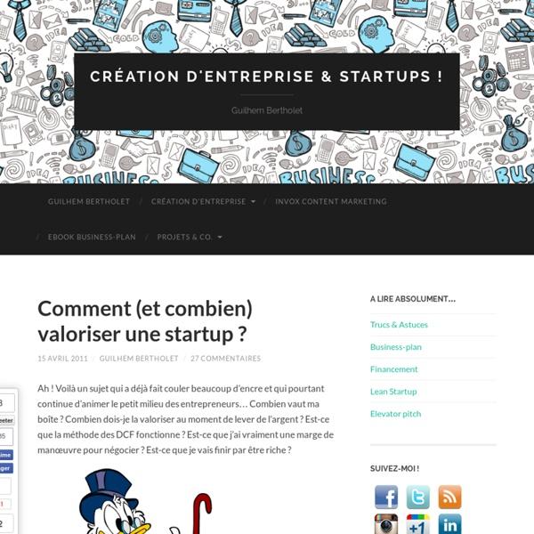 Comment (et combien) valoriser une startup ?