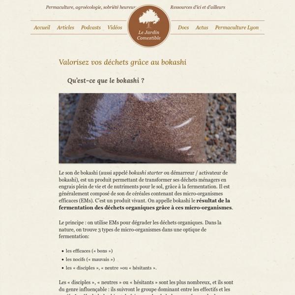 Valorisez vos déchets grâce au bokashi - Le Jardin Comestible