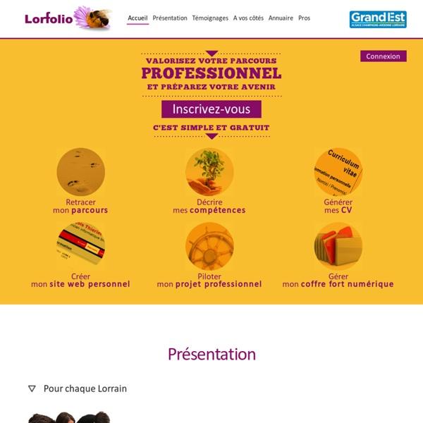 Valorisez votre parcours professionnel et préparez votre avenir - lorfolio.fr