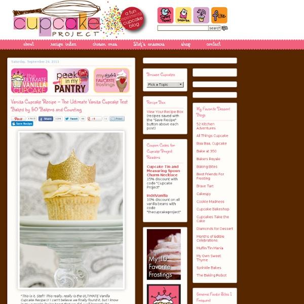 Receita Vanilla Cupcake - The Ultimate Vanilla Cupcake Teste cozido por 50 padeiros e Contagem