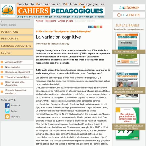 La variation cognitive