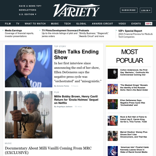 Entertainment news, film reviews, awards, film festivals, box office, entertainment industry conferences - Variety