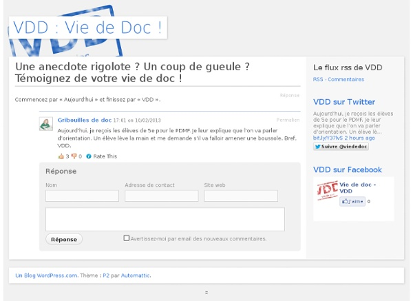 VDD : Vie de Doc !