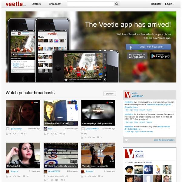 Live Video Stream on Veetle