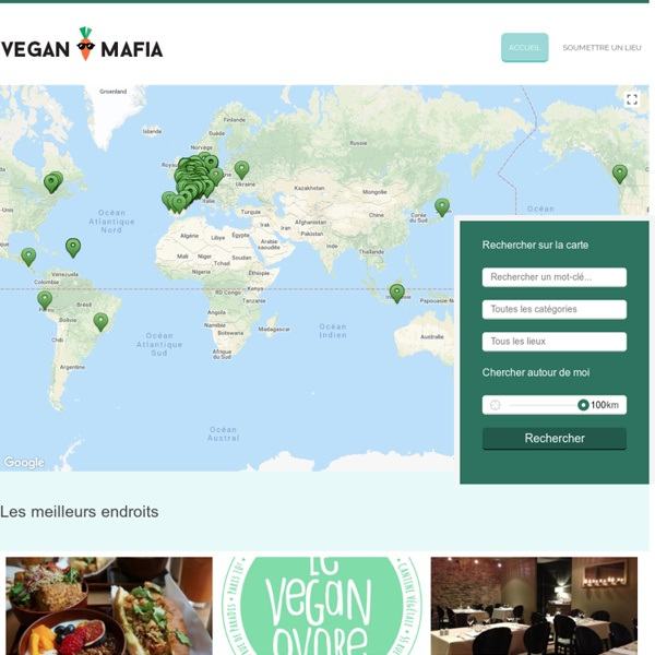 Carte des établissements vegan ou vegan friendly