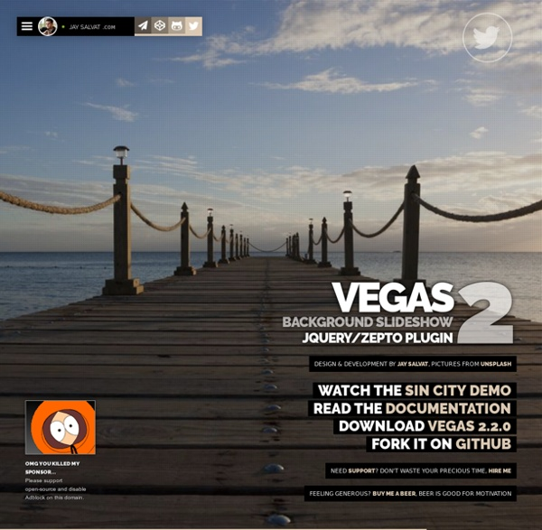 Vegas Background jQuery Plugin