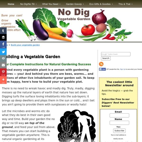 Build a vegetable Garden - Building and preparing an organic garden using natural No Dig Gardening methods