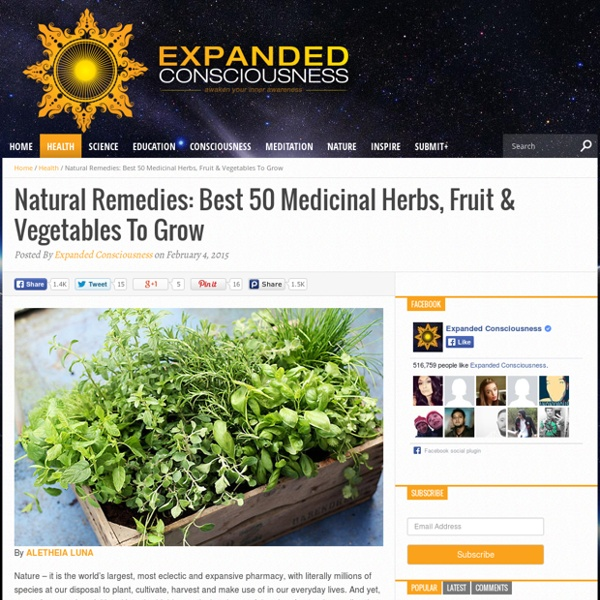 Natural Remedies: Best 50 Medicinal Herbs, Fruit & Vegetables To Grow