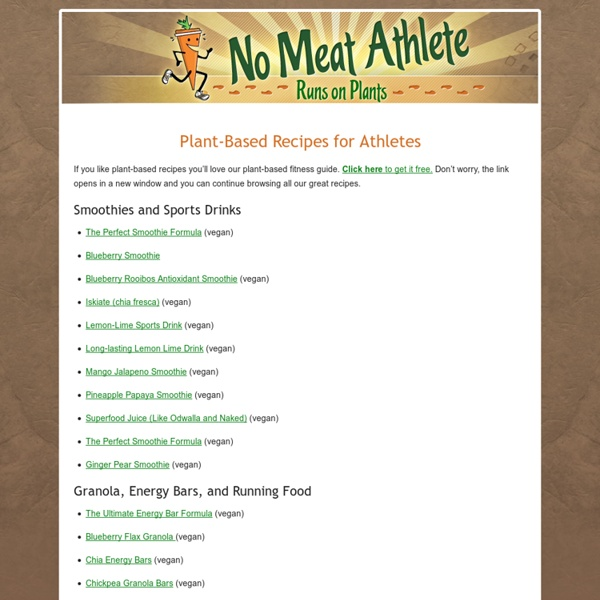 Vegetarian Recipes for Athletes