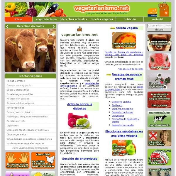 Veganismo, nutrición y recetas vegetarianas