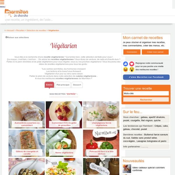 Recette Végétarien : Notre sélection de recette de Végétarien