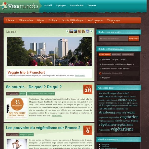 Vegmundo, blog végétarien, végétalien et vegan !