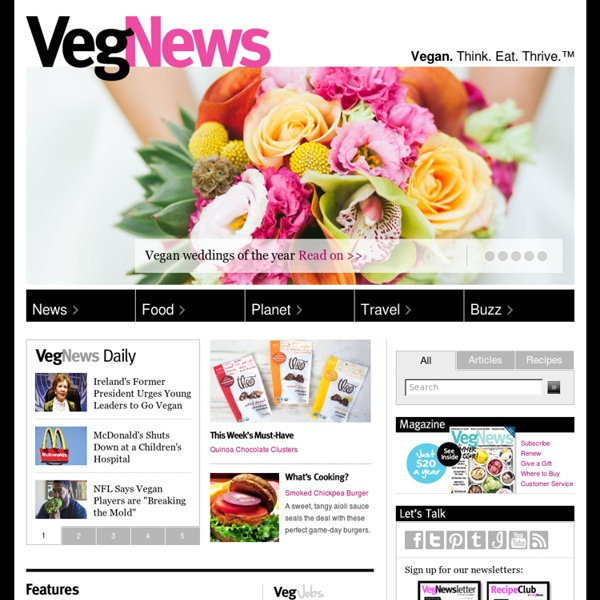 Vegan Recipes, Food, News, Travel, Health, Blogs, TV, Jobs, Events