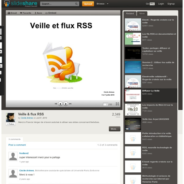 Veille & flux RSS