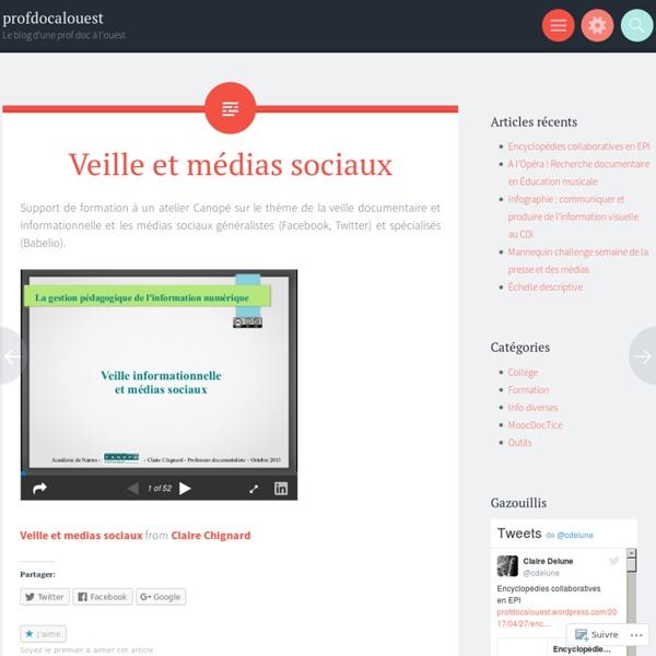 Veille et médias sociaux