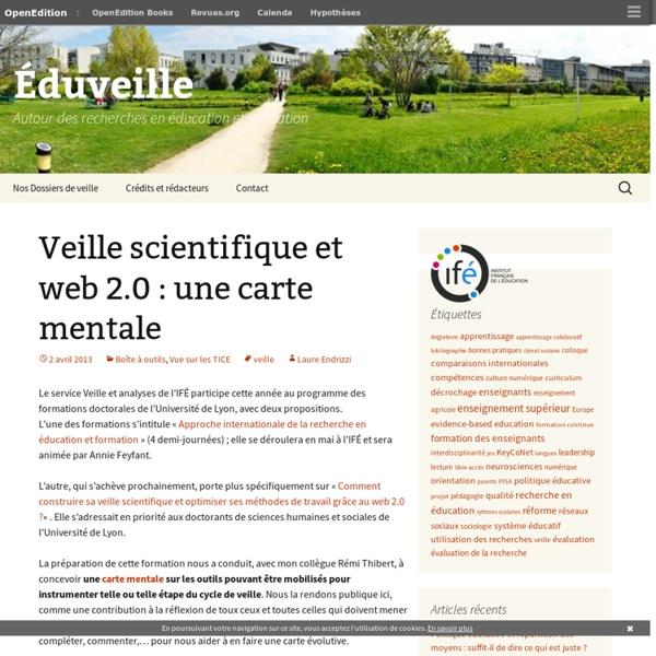Veille scientifique et web 2.0 : une carte mentale