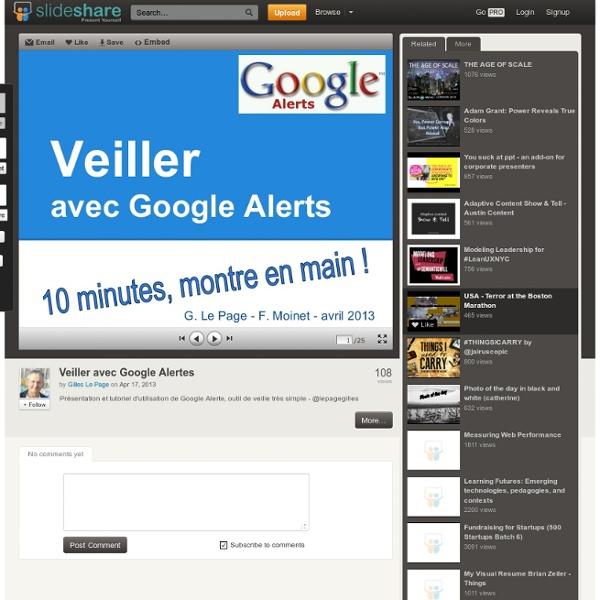 Tutoriel : Veiller avec Google Alertes