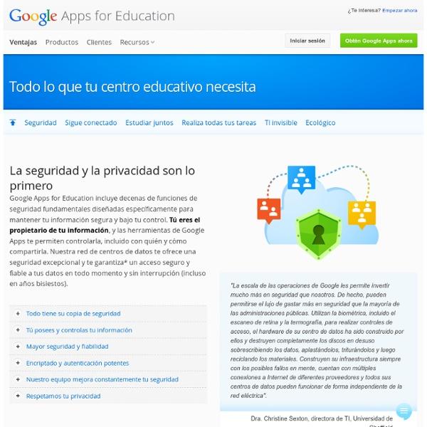 Ventajas – Google Apps for Education
