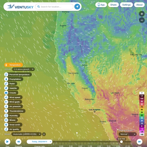 Ventusky - cartes de prévision météo