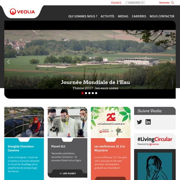 Veolia Environnement en France : Eau, Propreté, Energie, Transport