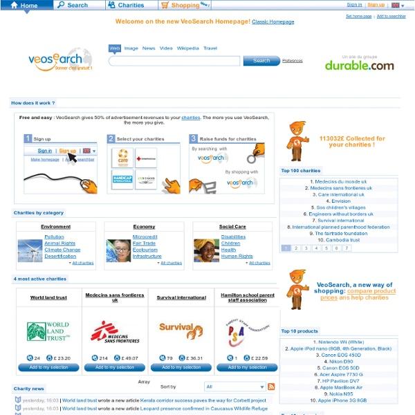 VeoSearch: Moteur de recherche et Guide d'achats solidaire