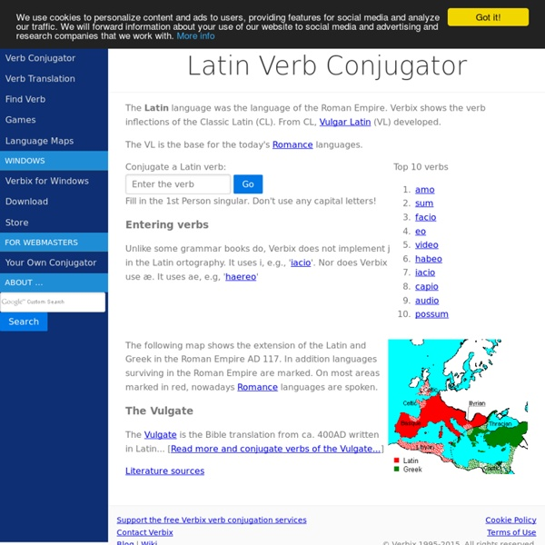 Conjugate Latin verbs
