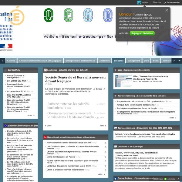 VERDI : Veille en Economie-gestion par flux Rss DIjon