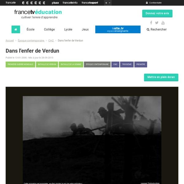 Dans l'enfer de Verdun [interactif]