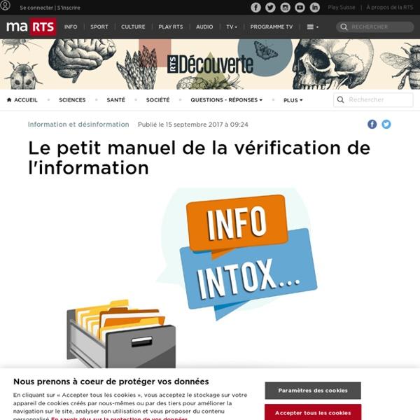 Le petit manuel de la vérification de l'information - rts.ch - Information et désinformation