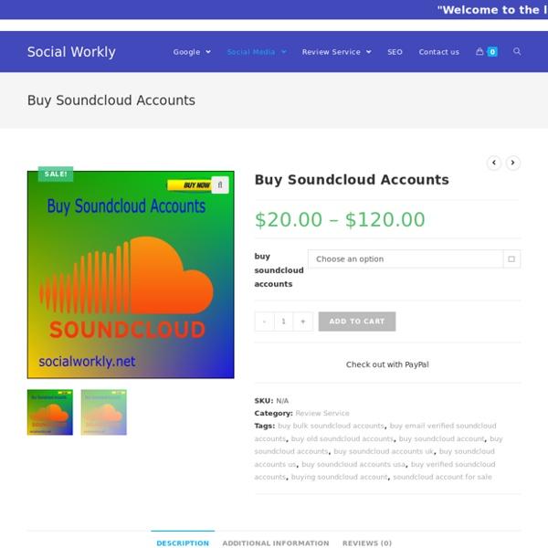 Bulk, Cheap, Aged soundcloud account