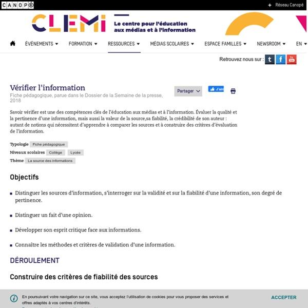 Vérifier l'information- CLEMI