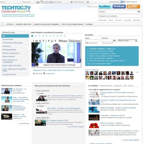 Est la première web-TV orientée B2B véritablement collaborative
