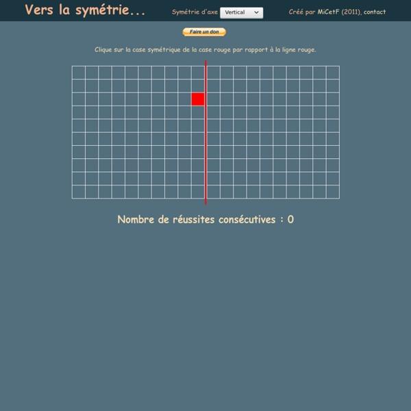 Vers la symétrie