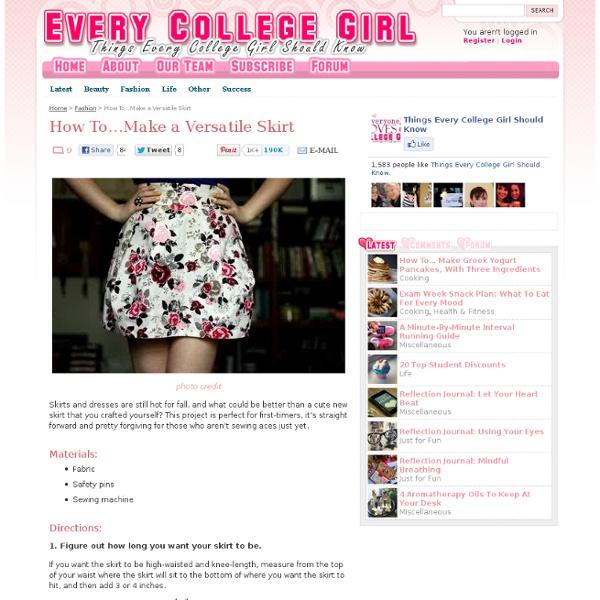 Make a Versatile Skirt
