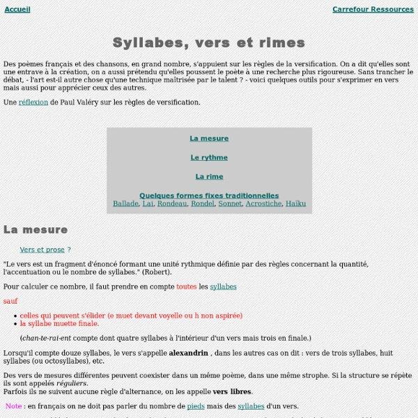 Notions de versification française
