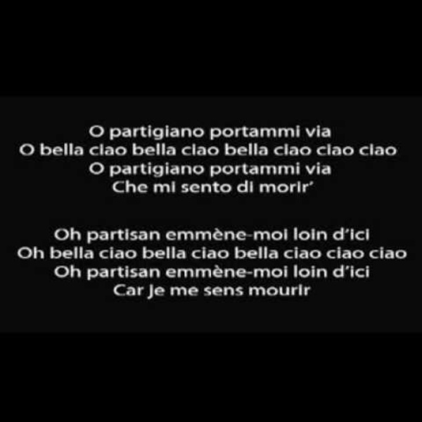 Bella Ciao - Version des partisans