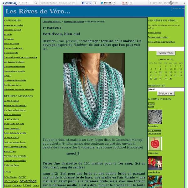 Vert d'eau, bleu ciel - Les Rêves de Véro...