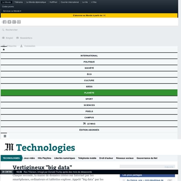 """Vertigineux """"big data"""""""