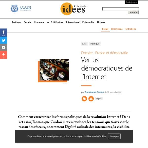 Vertus démocratiques de l'Internet
