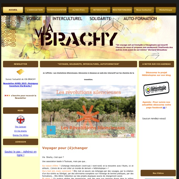 VIA BRACHY : Page actualites