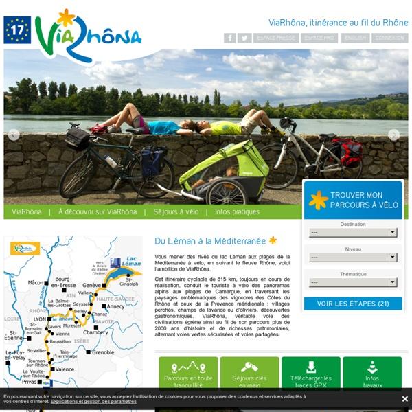 ViaRhôna à vélo — ViaRhona, le Rhône à vélo