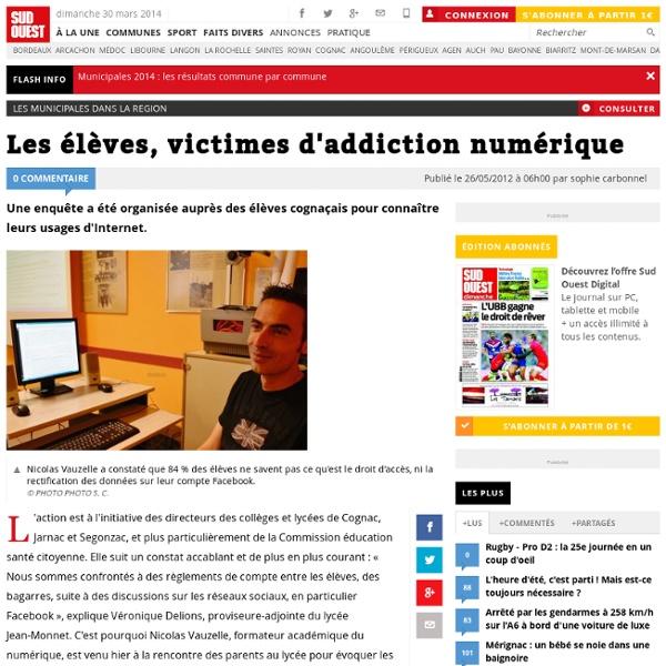 Les élèves, victimes d'addiction numérique