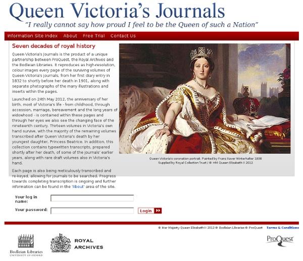 Queen Victoria's Journals - Home Page