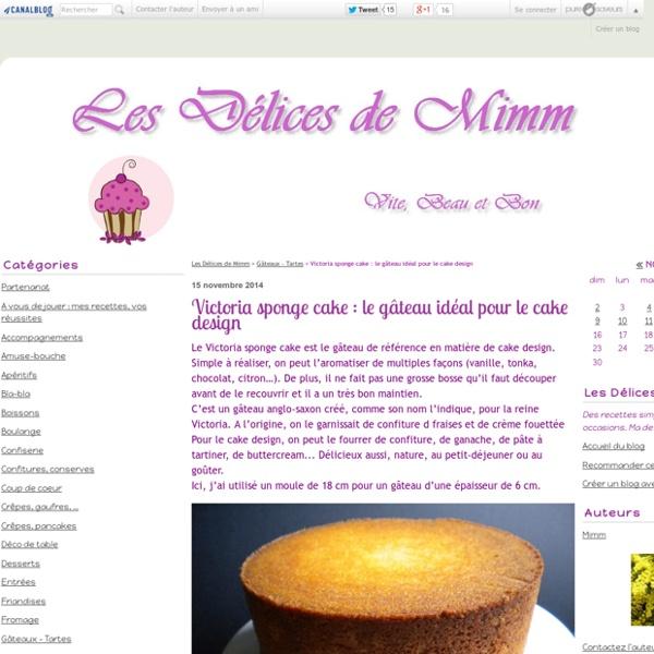Victoria sponge cake : le gâteau idéal pour le cake design