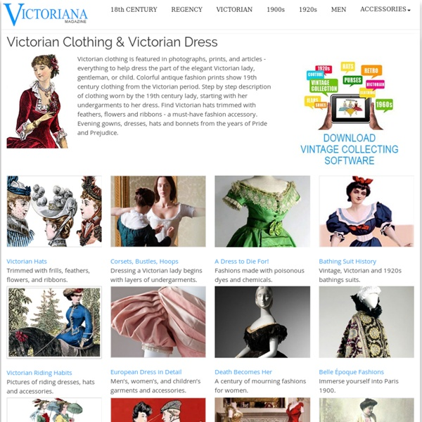 Victorian Fashion (PHOTOS) Victoriana Magazine